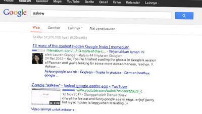 google askew miring