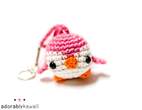 Amigurumi Free Patterns Keychain : Mini Penguin Amigurumi Keychain Crochet Pattern - Tiny Moon