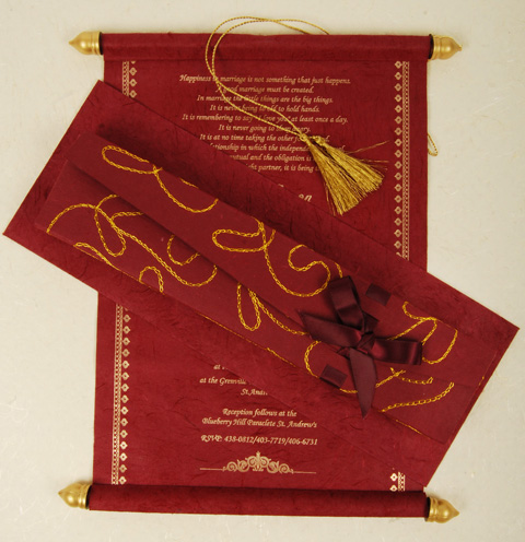 Related To Indian Wedding Cards Wedding Invitations Scroll Wedding