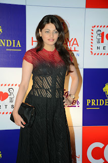 Actress Sneha Ullal Latest Pictures in Long Dress at CCL Charity Dinner  12.JPG