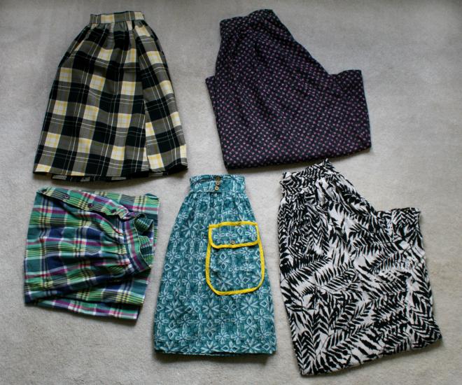 spring skirts wardrobe