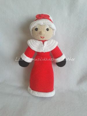 amigurumi sra. Calus realizado a Crochet
