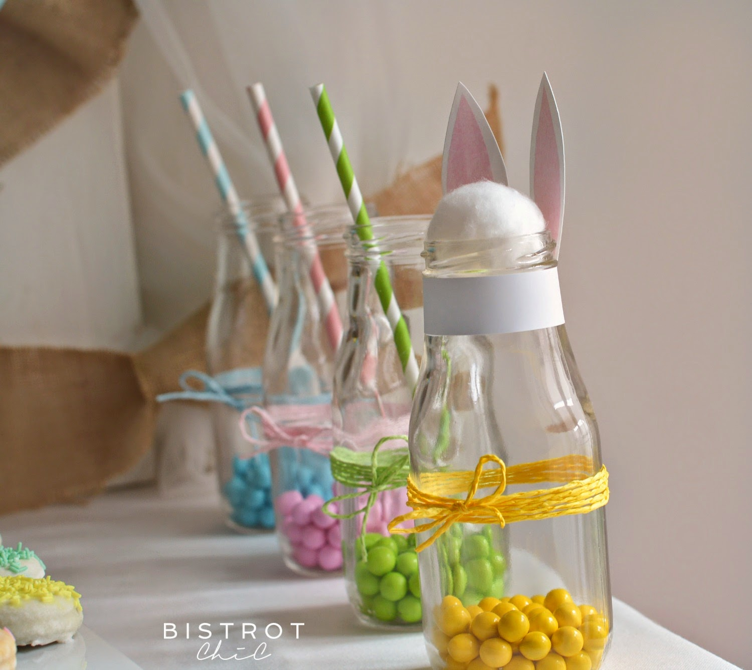 Easter Party Decorated Bottles by BistrotChic
