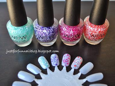 Wow Cosmetic New Glitters 317 368 315 353 לק גליטר נצנצים וואו קוסמטיקס