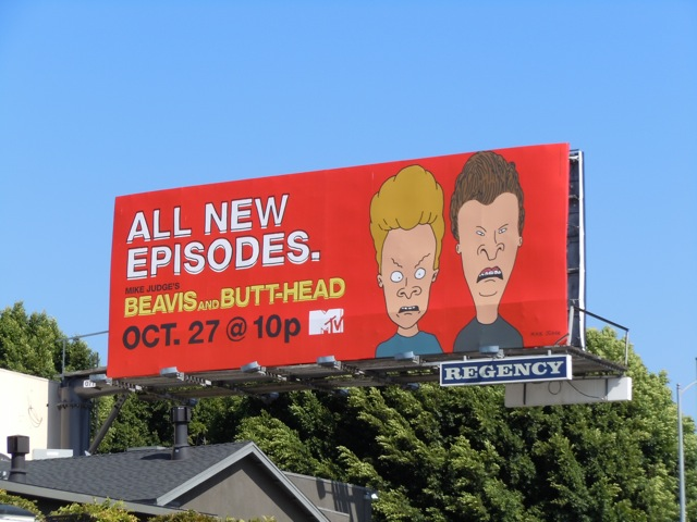 Beavis and Butt-head MTV billbaord