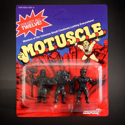 San Diego Comic-Con 2015 Exclusive Black Edition Masters of the Universe M.U.S.C.L.E. Mini Figures by Super7 x Mattel