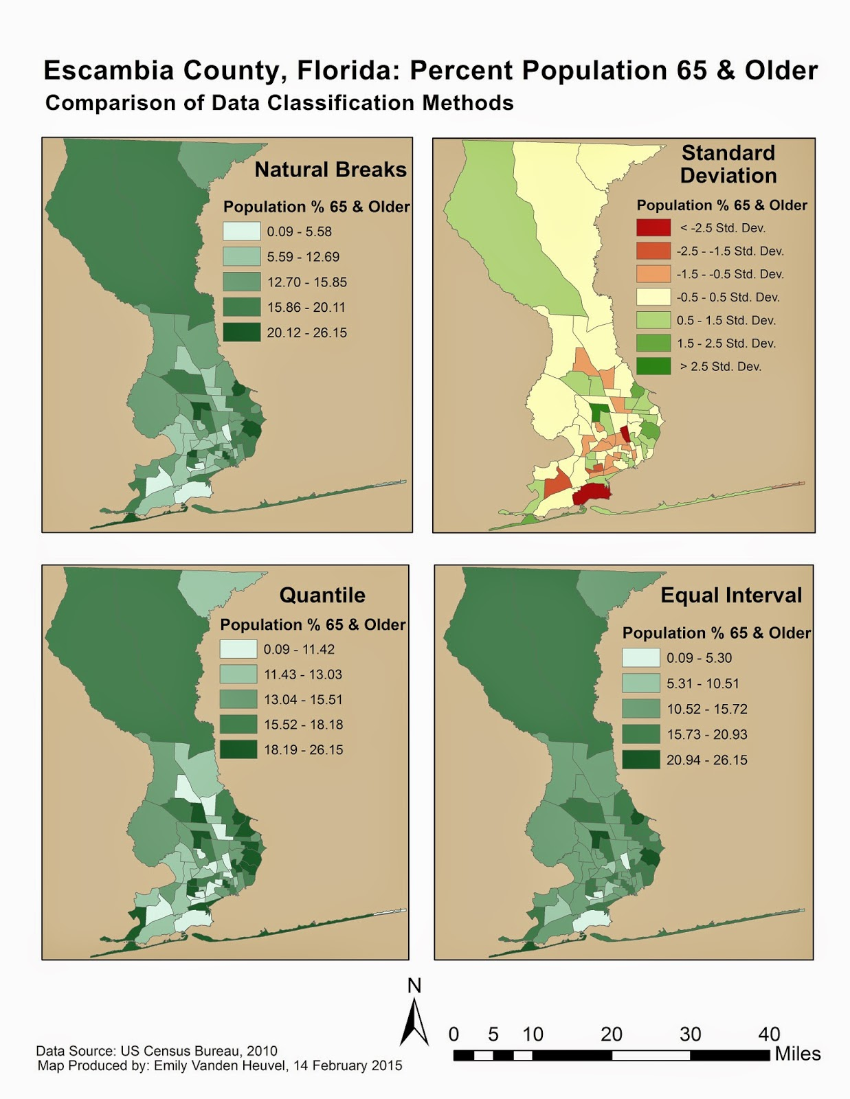 the technical term for this type of map is choropleth and there are several different ways the data categories or classes can be decided