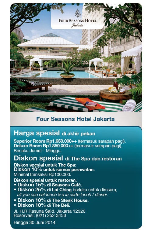 Katalog Promo Travel | Hotel terbaru di FOUR SEASON HOTELS AND RESORTS [ Berlaku 16 Apr 2014 s/d 30 Jun 2014 ]