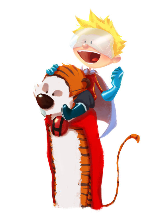 Hero-Hobbes and the Calvin-Kid por Andry-Shango