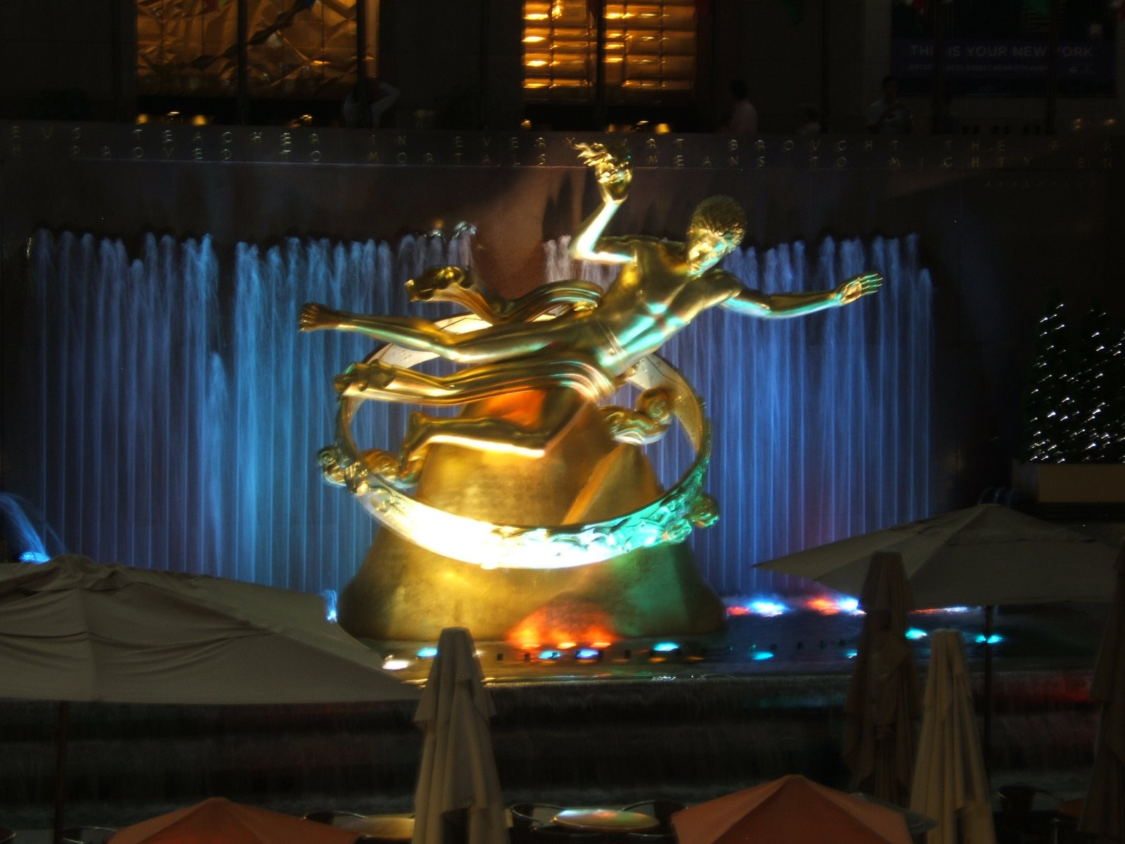 Rockefeller Plaza, New York ©2008 Tina M Welter  The iconic golden sculpture.