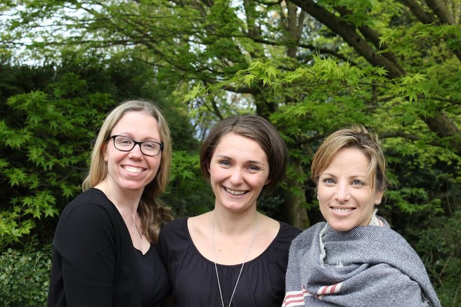 Krista, Marella and Kristi 3rd year Midwifery students