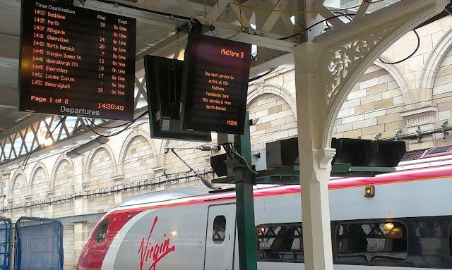 Virgin Trains at Edinburgh Waverley station