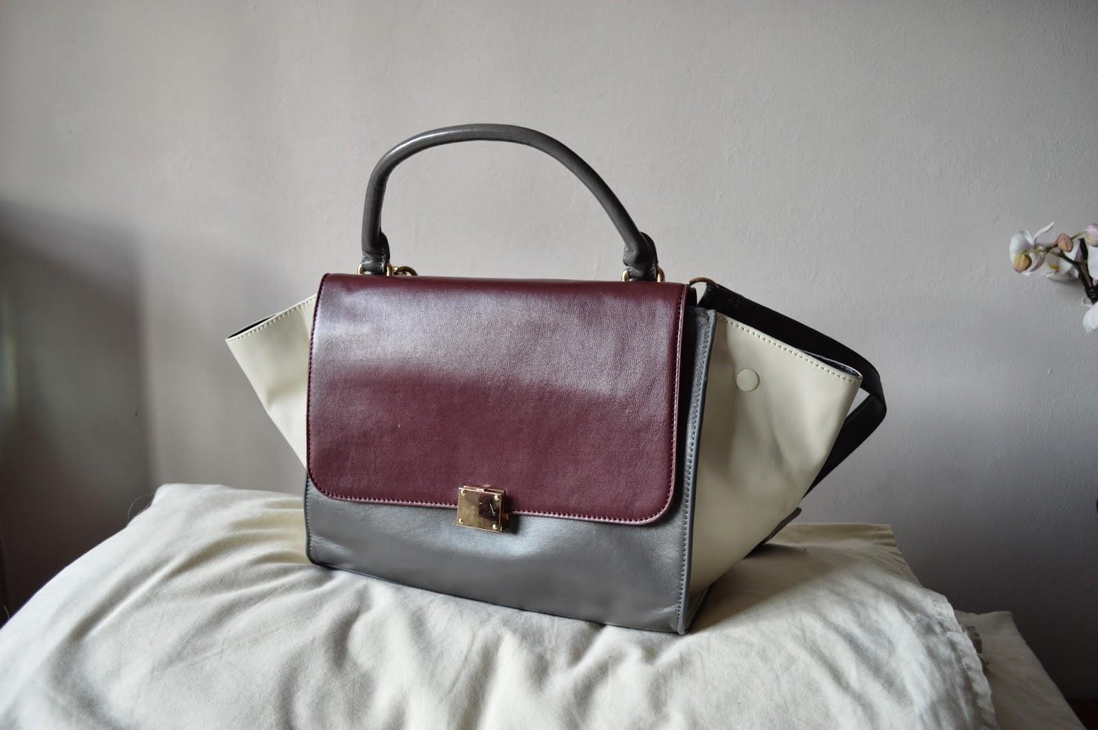 Sammi Jackson - Burgundy Trapeze Bag