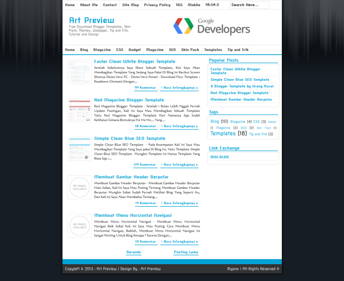 Faster Clean White Blogger Template