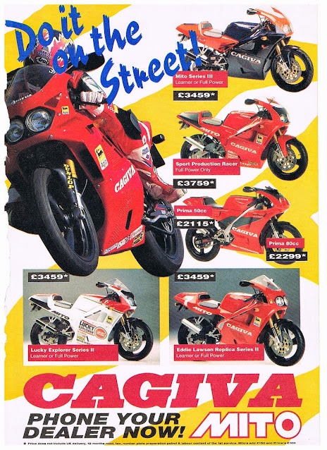 Cagiva Mito Blog , Old 125 Motorcycle adverts