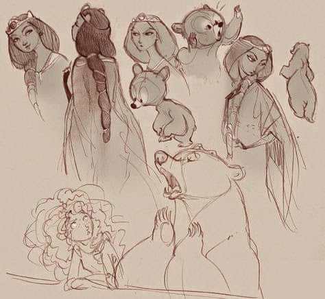 Merida and Queen Elinor Concepts Brave