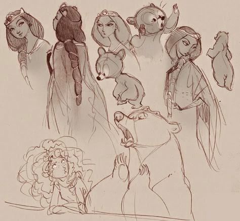Merida and Queen Elinor Concepts Brave