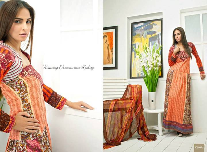 Pehnawa Eid Dress Latest Collection by ZS Textiles