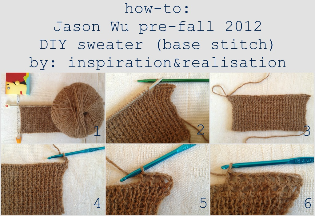 How To Do The Knit Stitch Step By Step For Beginners : inspiration and realisation: DIY fashion blog: DIY Jason Wu pre-fall 2012 - t...