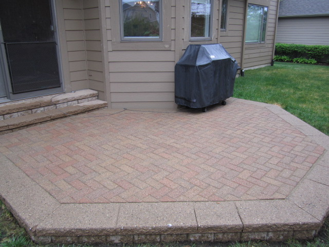 Small Raised Paver Patio