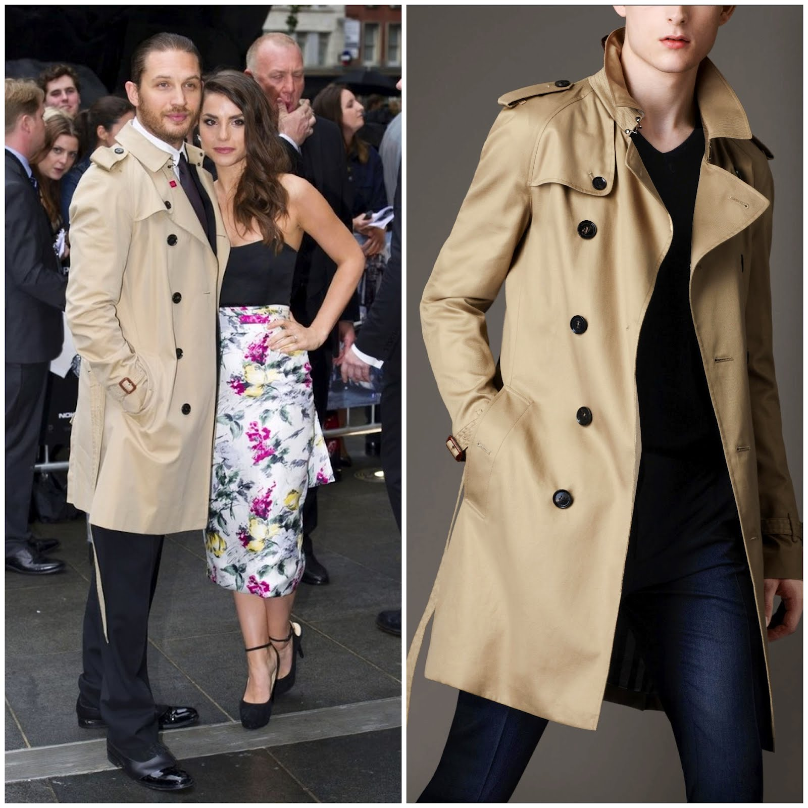 00O00 London Menswear Blog celebrity style Tom Hardy in Burberry London trench coat Dark Knight Rises European premiere at Odean Leicester Square London Mr Porter
