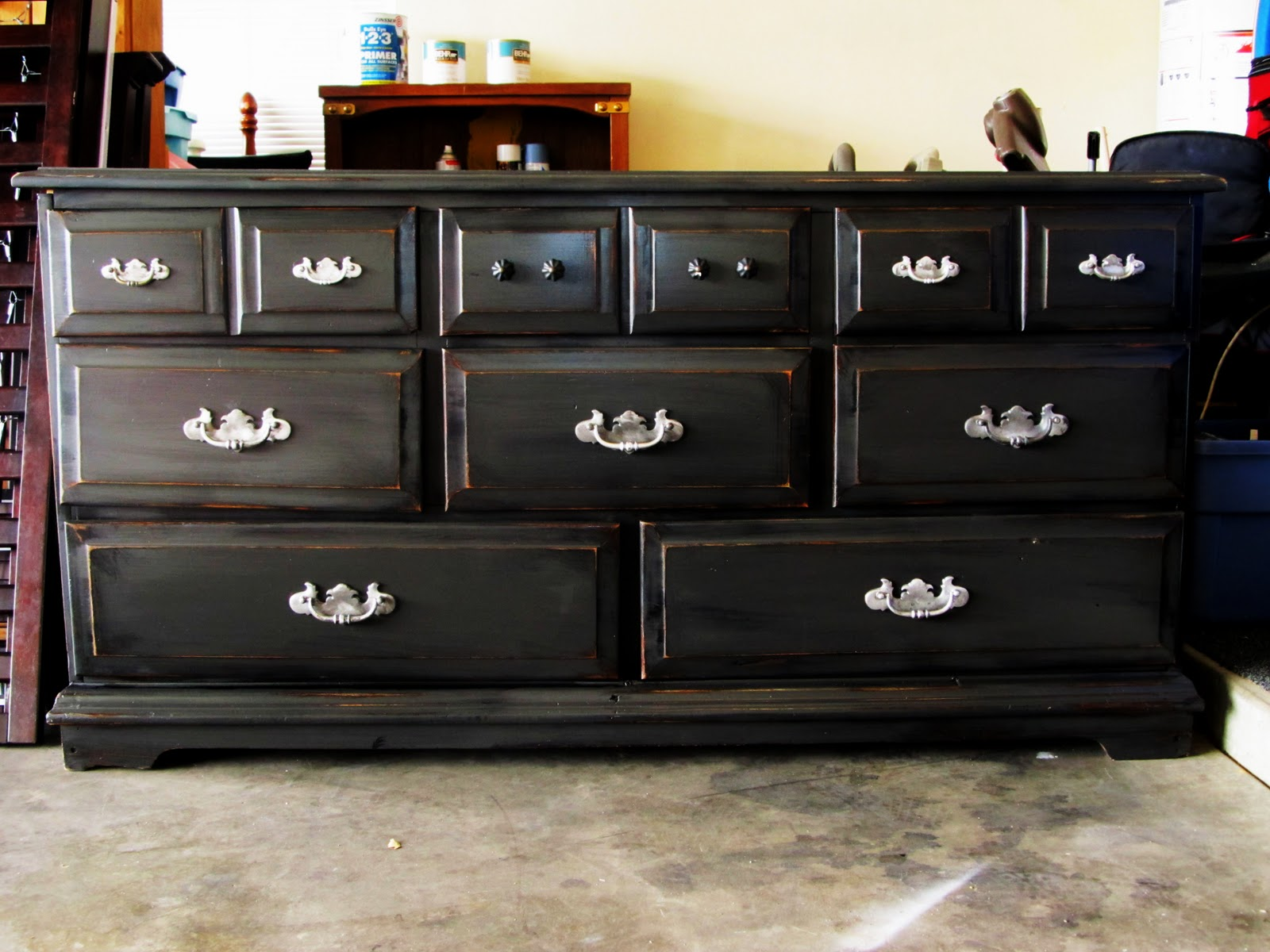 Painting furniture black distressed - Painting Furniture Black Distressed 26