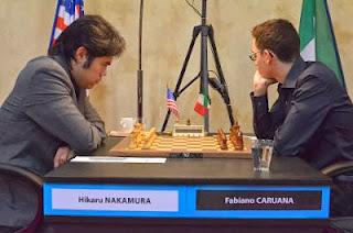 Ronde 7 : Hikaru Nakamura (2772) 1-0 Fabiano Caruana (2779) © site officiel