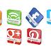 3D Social Icons dengan Rotate Spin Effect Untuk Blog