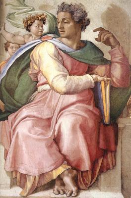 Pintura de Isaías obra del gran Miguel Ángel