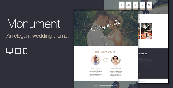 Premium Responsive WordPress Wedding Theme
