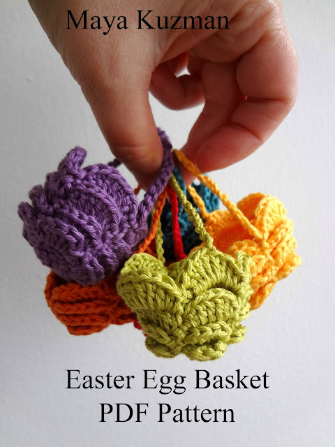 Crochet Patterns Easter : Little Treasures: Easter Egg Crochet Basket - PDF Pattern