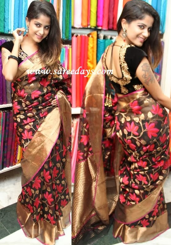 Latest saree designs black uppada pattu saree black uppada pattu saree altavistaventures Image collections