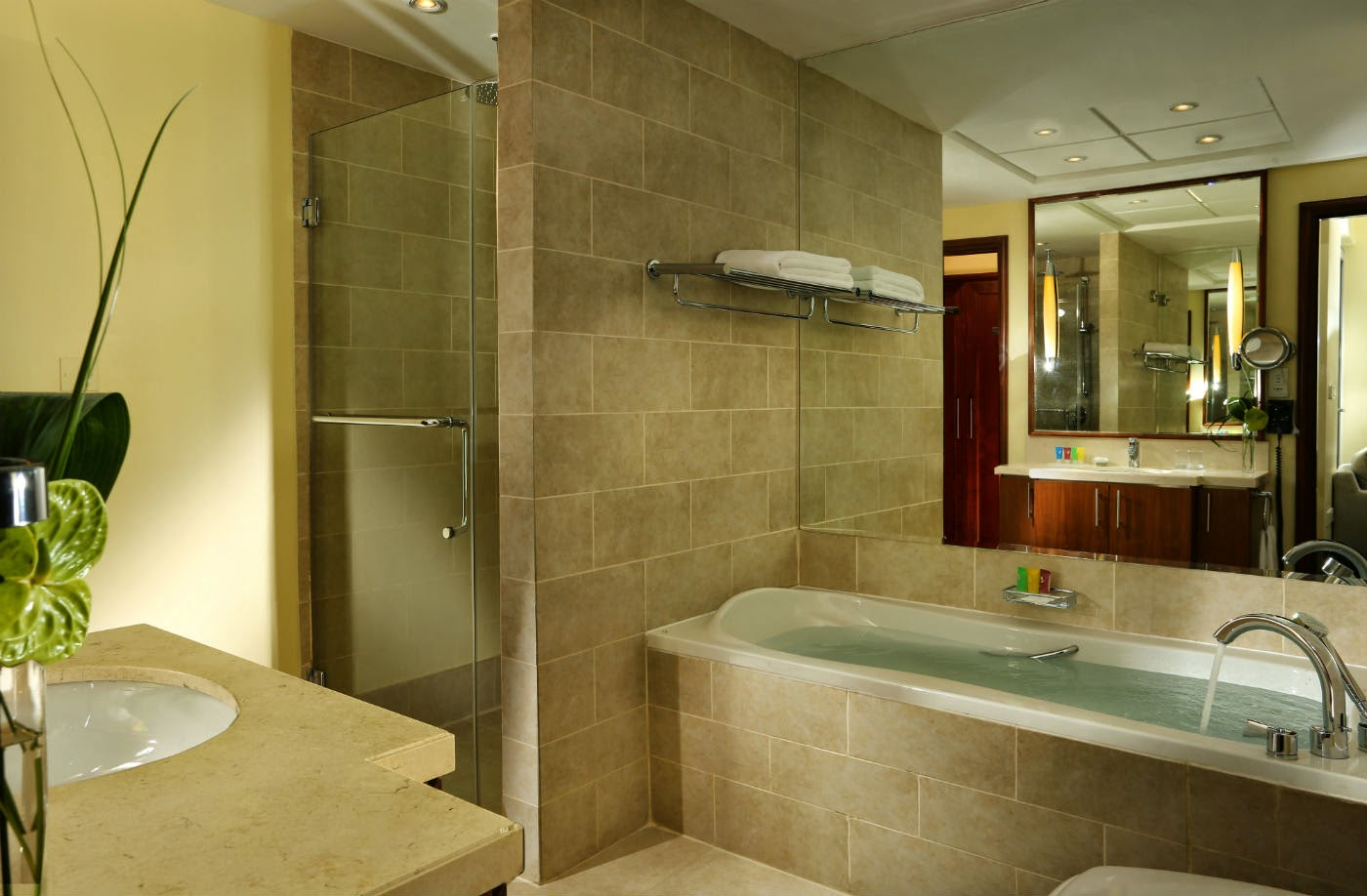All suites include a large bathroom with walk-in shower and separate bathtub