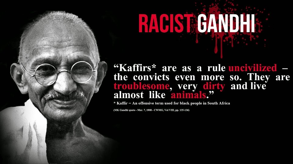gandhi called black african kaffirs