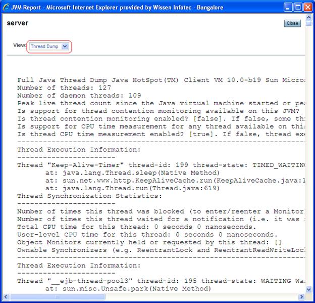 how to take thread dump in weblogic