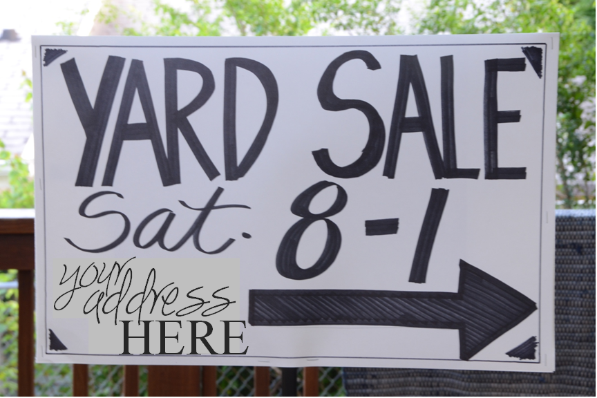 make garage sale sign