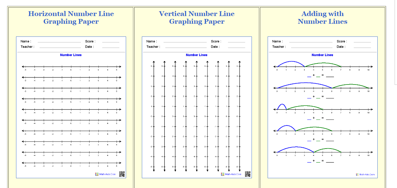 worksheet Math Aid Worksheets lesson deli making number lines httpwww math aids comnumber lines
