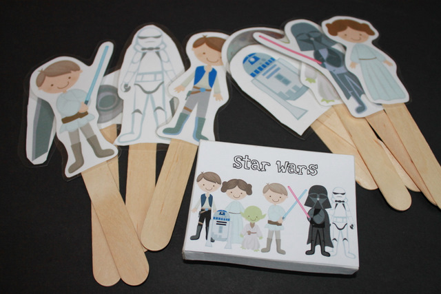 image relating to Star Wars Printable Crafts known as Star Wars Adhere Puppets Munchkins and Mayhem