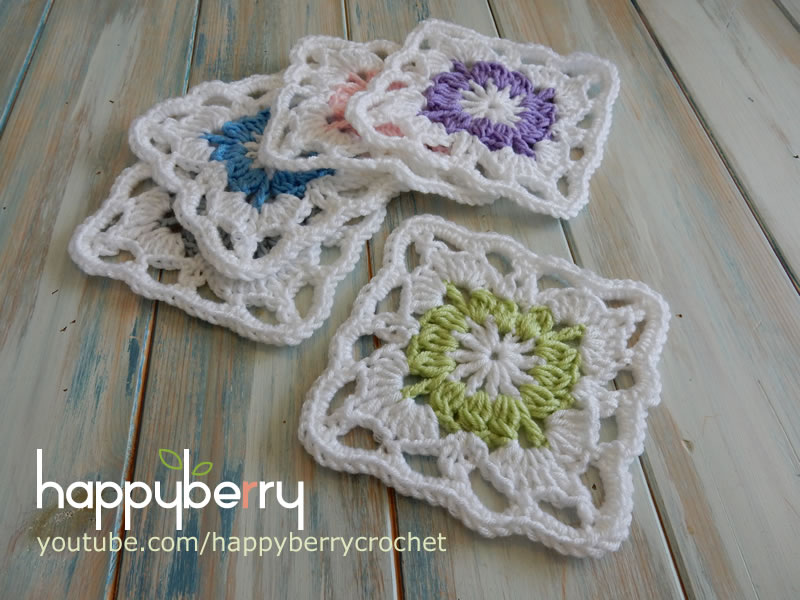 Happy Berry Crochet: How to Crochet my Vintage Granny Square