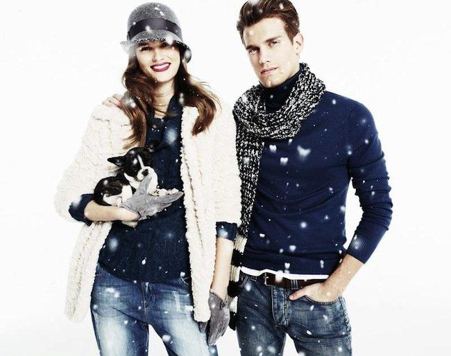 Blanco completa su colección con diseños de ropa y complementos como los gorros, guantes, paraguas, abrigos, bufandas, fulares y pañuelos, que pueden ser
