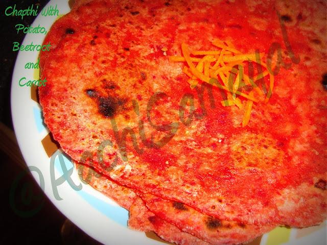 chapathi with veggie