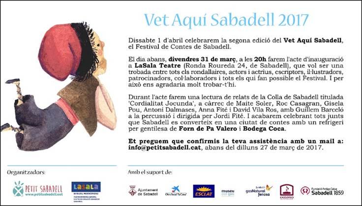 'Cordialitat jocunda' a l'acte d'inici del Festival Vet Aquí Sabadell