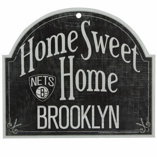 Brooklyn Nets NBA Home Sweet Home Wooden Sign