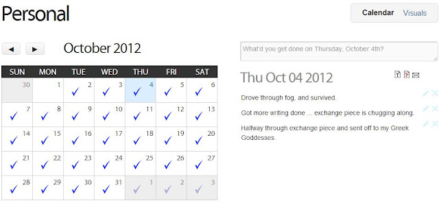 idonethis calendar notes october 2012