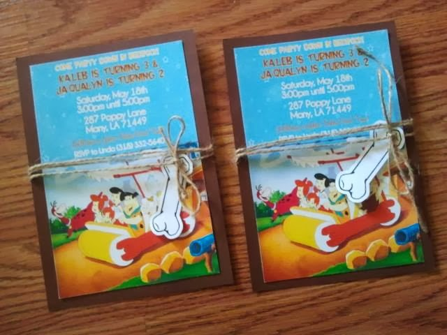 this+one posh diva parties {diy} flintstone invitations,Flintstones Birthday Invitations