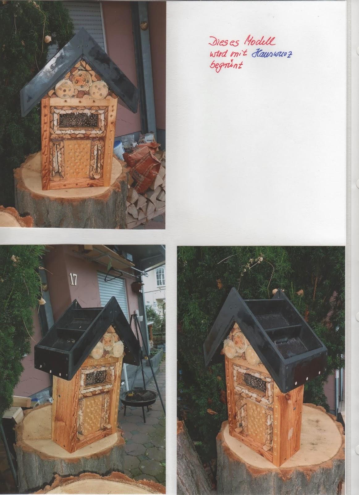 kombination von wegmarkierungen und artenschutz kleines insektenhotel. Black Bedroom Furniture Sets. Home Design Ideas