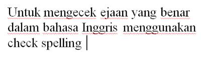 garis dibawah kata atau kalimat