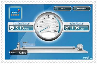Celcom Superb Broadband Speed Test Result!