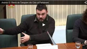 La veu de Tanquem els CIEs al Parlament