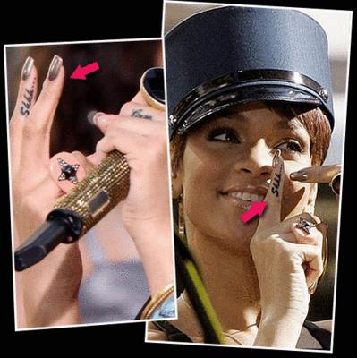 Rihanna Body Piercings And Tattoos